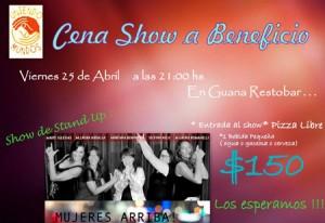 Cena Show 25 de abril